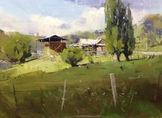 After the Rain. Colley Whisson. Oil.