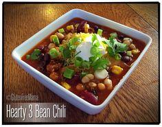 Gluten Free Mama's Blog: Hearty Three Bean Chili ~ gluten free