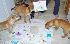The Five Little Gentlemen create their masterpieces :)