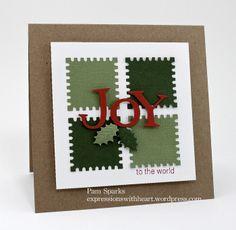 Spellbinders: Postage stamp die; QK: Tangerine alphabet