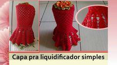 Capa de liquidificador em Crochê com flor - YouTube