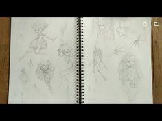 Sketckbook of fairy 1 by Sandrine Gestin Vintage World Maps, Fairy, Illustration, Artist, Youtube, Artists, Illustrations, Youtubers, Youtube Movies