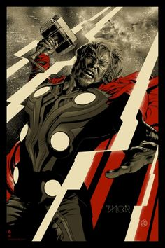 The Avengers: Thor, by Martin Ansin [ mondoTees / alamo Drafthouse ]