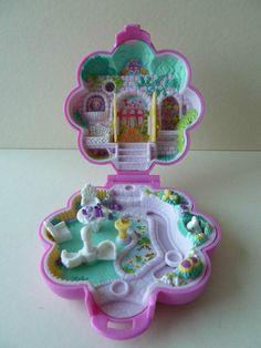 *THIS WAS MY FAVORITE !!!* Polly Pocket Garden Surprise 1990 Bluebird Toys Keepsake Collection Ref 950051