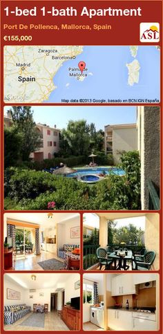 1-bed 1-bath Apartment in Port De Pollenca, Mallorca, Spain ►€155,000 #PropertyForSaleInSpain