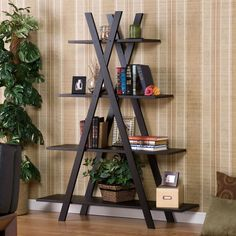 Whether you're using it to keep your office organized or as a household display of your most prized possessions, this Modern 4-Shelf Bookcase Bookshelf Display
