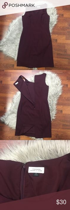 Tahari Classic Plum Dress Great Preowned condition- No flaws or defects Tahari Dresses Mini