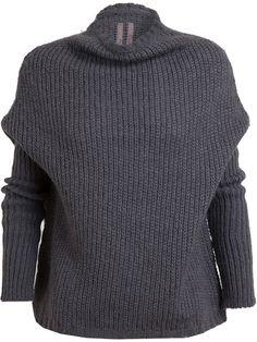 Rick Owens Alpaca Knit Sweater in Gray (grey)