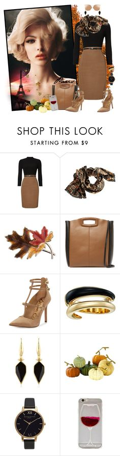 """""""Fall Class"""" by krusie ❤ liked on Polyvore featuring Phase Eight, Anne Klein, Maje, Sam Edelman, Michael Kors, Isabel Marant, Home Decorators Collection, Olivia Burton and Linda Farrow"""