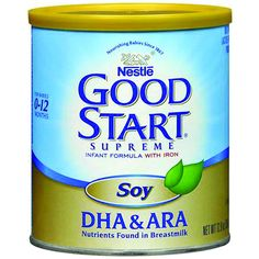 NestlÈ Good Start® Supreme Soy With DHA  https://www.finneganmedicalsupply.com