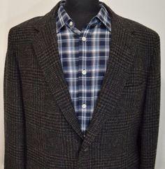 BEAUTIFUL DOBB SHIRE mens MULTICOLOR HUNTING TWEED sport coat blazer 44L 44 long #DOBBSHIRE #TwoButton