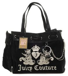 1021bd23310 Juicy Couture  lt 3 Burberry Handbags, Hermes Handbags, Handbags On Sale,  Black
