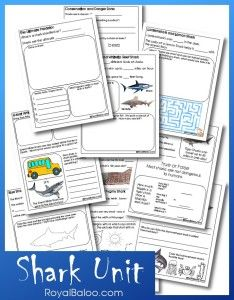 Shark Unit - This unit study is designed for kids in 1st-3rd grade. What's in the pack? Information about Sharks, mazes, math, coloring, and more! Scroll Down to download the Shark Unit!