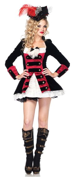 Charming Pirate Captain Sexy Costume Dia Das Bruxas 4fb43afb7ca04