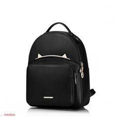 4bc074aca6f15 Lekki skórzany damski plecak Czarny Backpack Brands, Backpack Purse, Travel  Backpack, Fashion Backpack