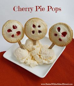 Cherry Pie Pops -Butter With a Side of Bread #recipe