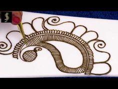 ऐसे लगायें खूबसूरत और आसान मेहंदी डिजाइन | Simple Mehndi Design For Hands by Jaya Solanki #23 - YouTube Mehndi Designs Book, Simple Mehndi Designs, Mehndi Designs For Hands, Tattoo Designs, Henna Mehndi, Mehendi, Mhendi Design, Learn To Draw, Beauty Hacks