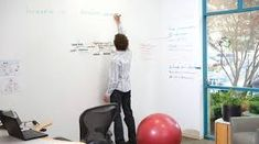 Dry erase wall, want this in my new room! Dry Erase Paint, Dry Erase Wall, Dry Erase Whiteboard, Dry Erase Board, Whiteboard Office, Whiteboard Sticker, Magnetic Whiteboard, Big White Board, White Boards