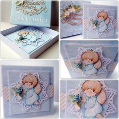 Cardmaking by jolagg: Pamiątka Chrztu Świętego dla chłopca