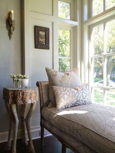 Boxwood Interiors | REstyleSOURCE  Love the bench style lounger