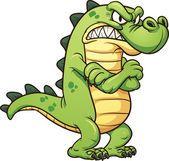 Crocodilo rabugento —  Vetores de Stock