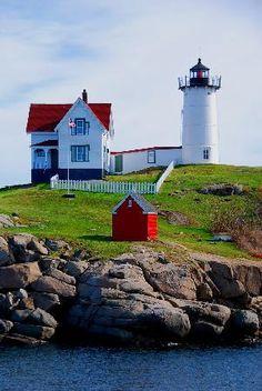 Goat Island Lighthouse - Kennebunkport, Maine, USA