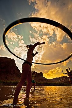 Do you exercise with your Hula-Hoops too? It's awesome!