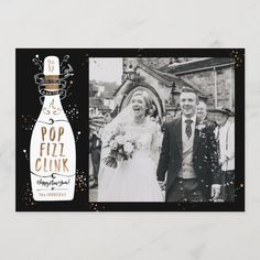 Pop Fizz Clink Champagne Photo New Year's Card New Year Photos, Holiday Photos, Holiday Cards, New Year Holidays, New Year Card, New Years Eve Party, Photo Cards, Champagne, Pop