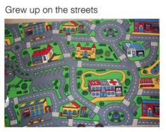 Crew up on the streets city map carpet
