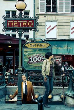 métro St Michel, Paris  This was the stop we used while staying in an apartment in the Latin Quarter.