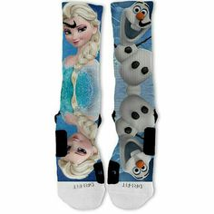 Disney Frozen Elsa Olaf Customized Nike Elite by KsCreationz Nike Outfits, Sport Outfits, Nike Elite Socks, Nike Socks, Basketball Socks, Love And Basketball, Crazy Socks, Cool Socks, Sexy Socks