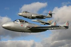 Temora aviation Museum Vampire VH-VAM and Gloster Meteor VH-MBX join up with a Royal Australian Air Force Hornet over Temora. Navy Aircraft, Aircraft Photos, Military Jets, Military Aircraft, De Havilland Vampire, Commonwealth, Gloster Meteor, War Jet, Royal Australian Air Force