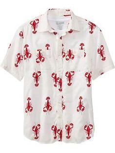 Men's Printed Short Sleeve Shirts | Old Navy