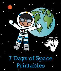 7 Days of Blast Off Space Printables - check out this 7 days for free space printables - 3Dinosaurs.com