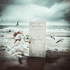 door to the ocean