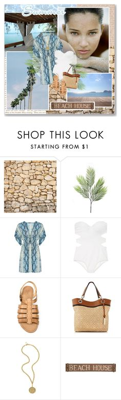 """""""Summertime"""" by lifestyle-ala-grace ❤ liked on Polyvore featuring Sephora Collection, Victoria's Secret, Zara, Tignanello, Swarovski Crystallized and Pottery Barn"""