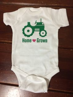 Hey, I found this really awesome Etsy listing at https://www.etsy.com/listing/190479034/home-grown-country-baby-onesie-baby