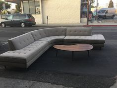 3 Piece 1960's Sectional in Oatmeal Tweed