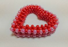 Free Beaded Heart Tutorial - featured in recent Bead-Patterns.com Newsletter!