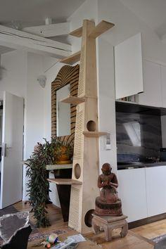 Labo Voluptas Ebénisterie: Arbre à chat sur mesure