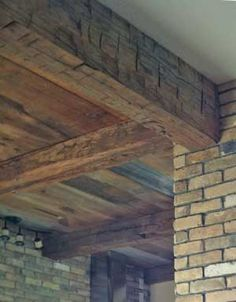 Ceiling beams and siding, built using reclaimed material supplied by MichiganBarnworks