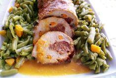 Friptura la cuptor din cotlet de porc umplut Water Marbling, Dessert Recipes, Desserts, The Cure, Rolls, Chips, Chicken, Meat, Pork