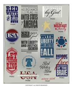 DIGITAL DOWNLOAD: Patriotic vector designs in AI, EPS, GSD, and SVG formats @ My Vinyl Designer (http://www.myvinyldesigner.com/Products/patriotic-collection-addon-p5.aspx#)