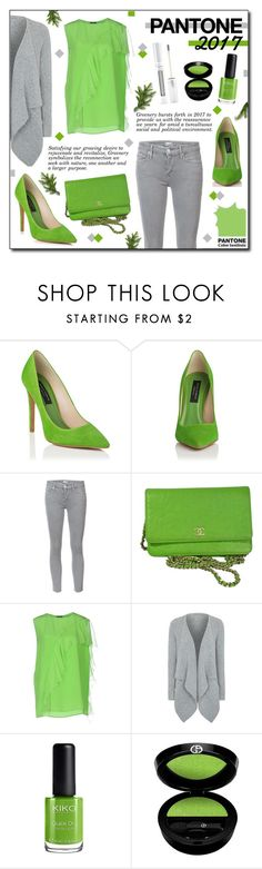 """""""Pantone 2017 : Greenery"""" by drinouchou ❤ liked on Polyvore featuring Mother, Chanel, Versace, George, Giorgio Armani and Forever 21"""