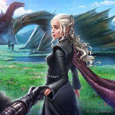 gameofthrones-fanart - Posts tagged game of thrones fan art Game Of Thrones Artwork, Game Of Thrones Dragons, Game Of Thrones Fans, Daenerys Targaryen, Khaleesi, Winter Is Here, Winter Is Coming, Emilia Clarke, Familia Targaryen