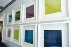 Ikea frames with colored paper