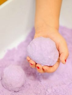 How to Make Calming Lavender Cloud Dough