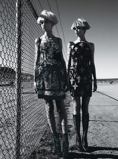 Patrick Demarchelier #photography | W Magazine August 2012 in Dolce&Gabbana