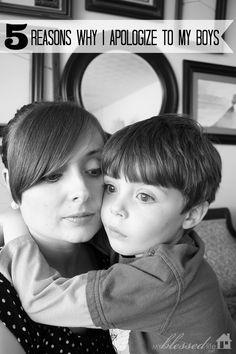 5 Reasons Why I Apologize To My Boys | MyBlessedLife.net