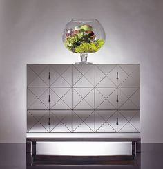 Mirrored 3 drawer chest by Century Furniture